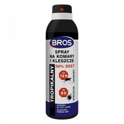 Płyn na komary i kleszcze 50% DEET 180 ML BROS