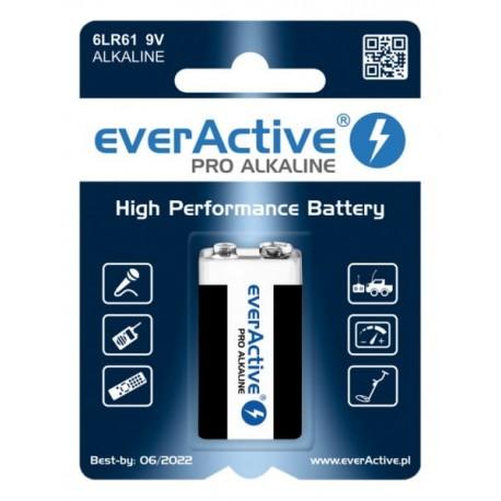 Bateria alkaiczna EverActive Pro 6LR61 9v