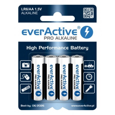 Bateria alkaiczna EverActive Pro LR03/ AAA 4szt.
