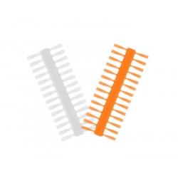 Stopereki Q-STOP / transparenty+pomarańczowy 7mm