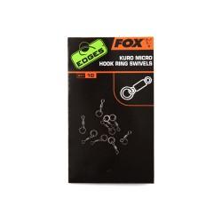 FOX Edges Kuro micro hook ring swivels x 10