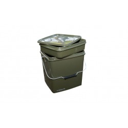 Trakker Olive Square Container inc. Tray 13L